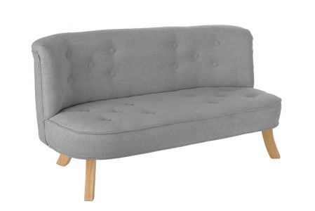 Somebunny Velvet Sofa - Teddy Grey Colour